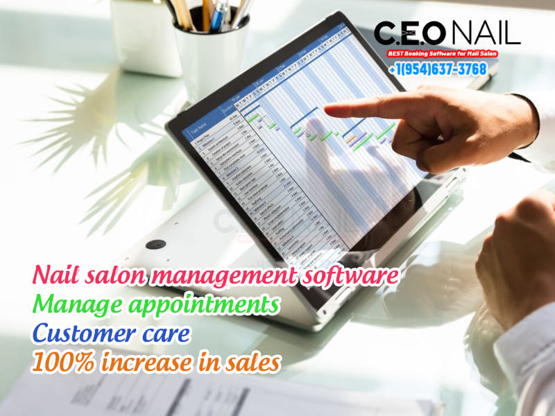 Nail salon management software appointment management customer care 100% increase in revenue