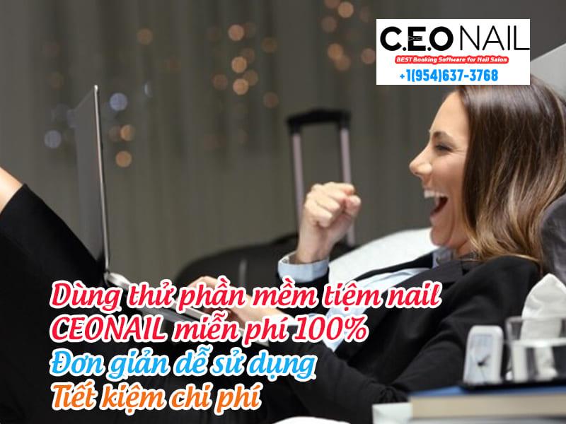 Dùng thử phần mềm tiệm nail CEONAIL miễn phí 100% Đơn giản dễ sử dụng Tiết kiệm chi phí
