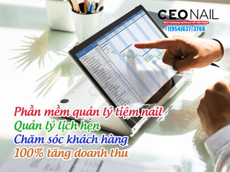 Phần mềm quản lý tiệm nail quản lý lịch hẹn và chăm sóc khách hàng giúp 100% tăng doanh thu
