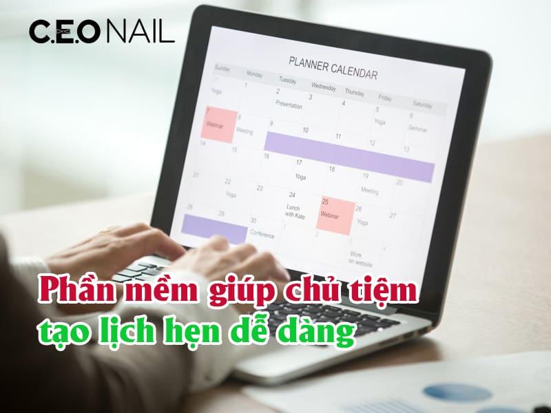 Phần mềm giúp chủ tiệm tạo lịch hẹn dễ dàng