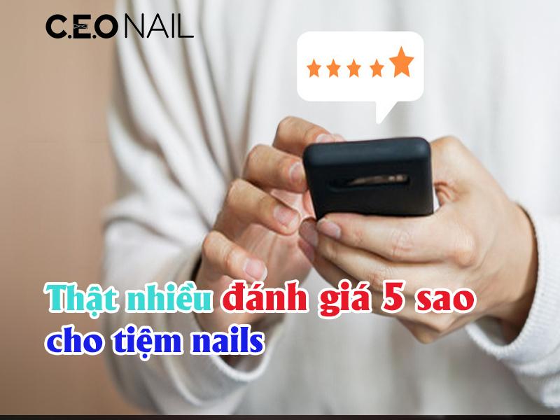 Thật nhiều đánh giá 5 sao cho tiệm nails